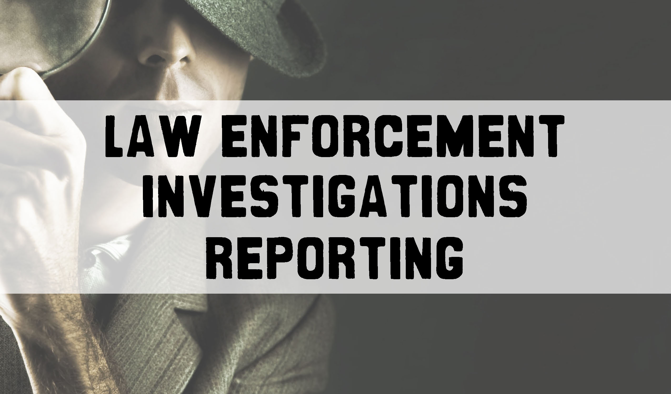Law Enforcement Investigations Reporting