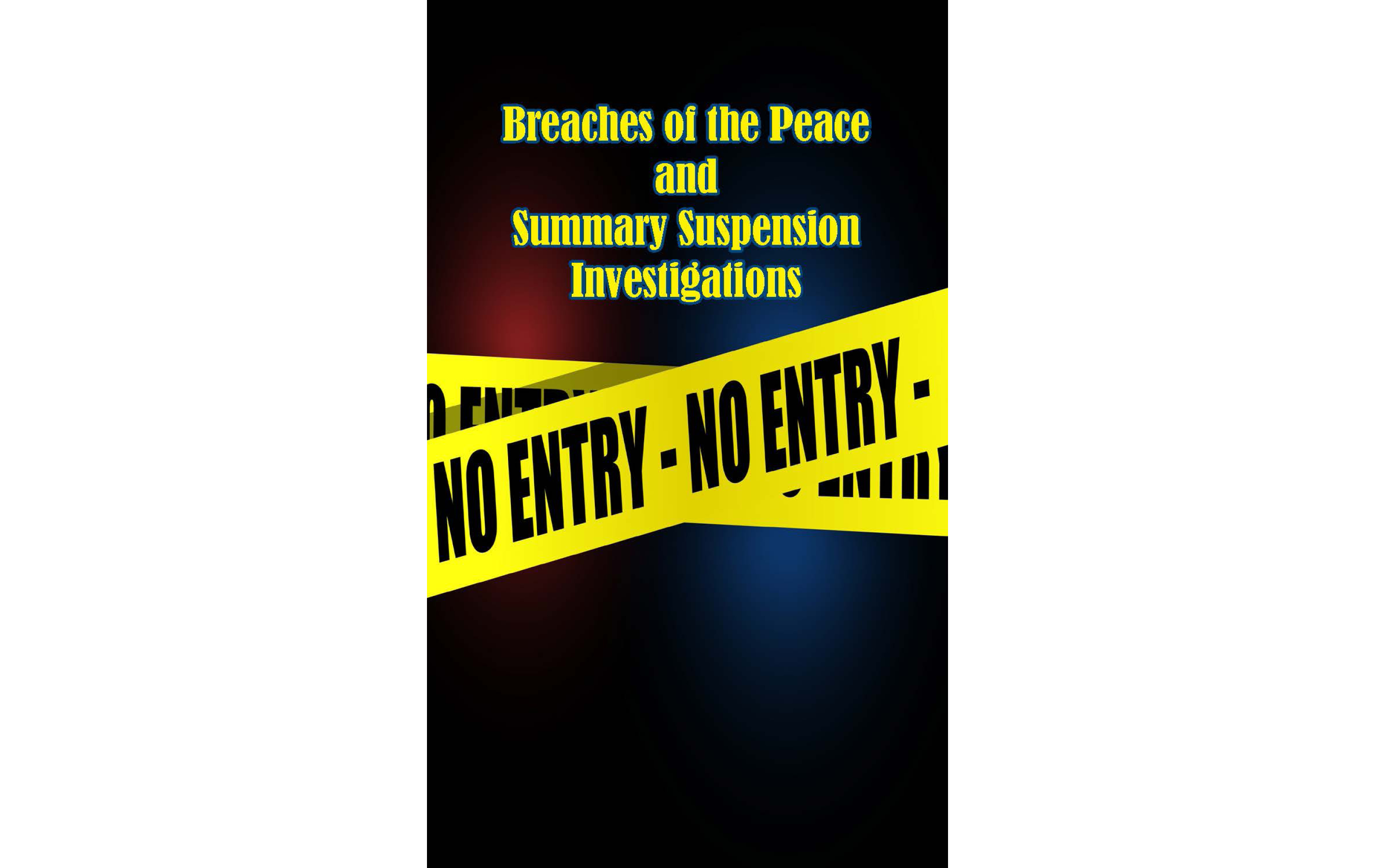 Breaches of the Peace and TABC Summary Suspensions Pocket Notebook