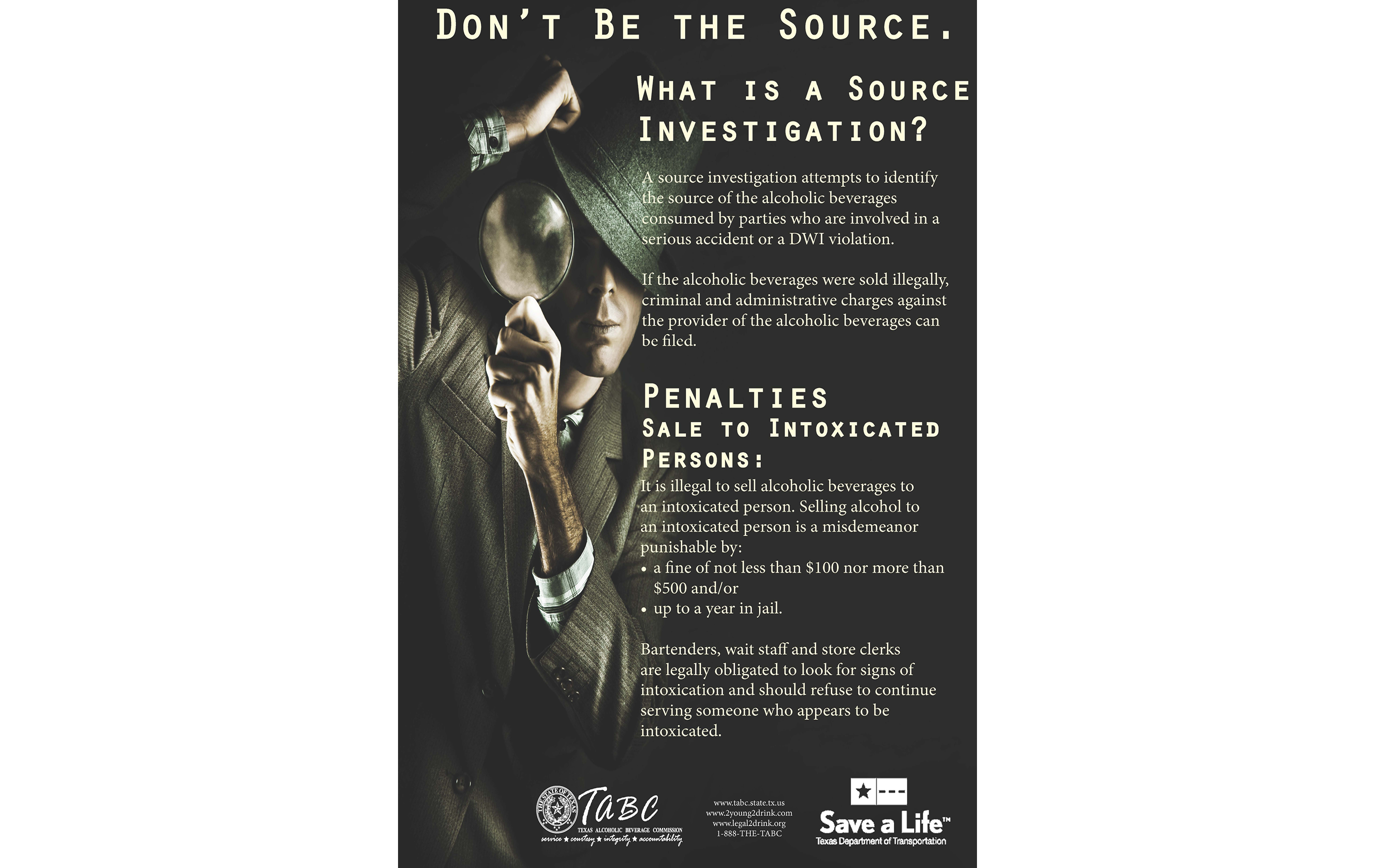 Don't Be The Source Poster