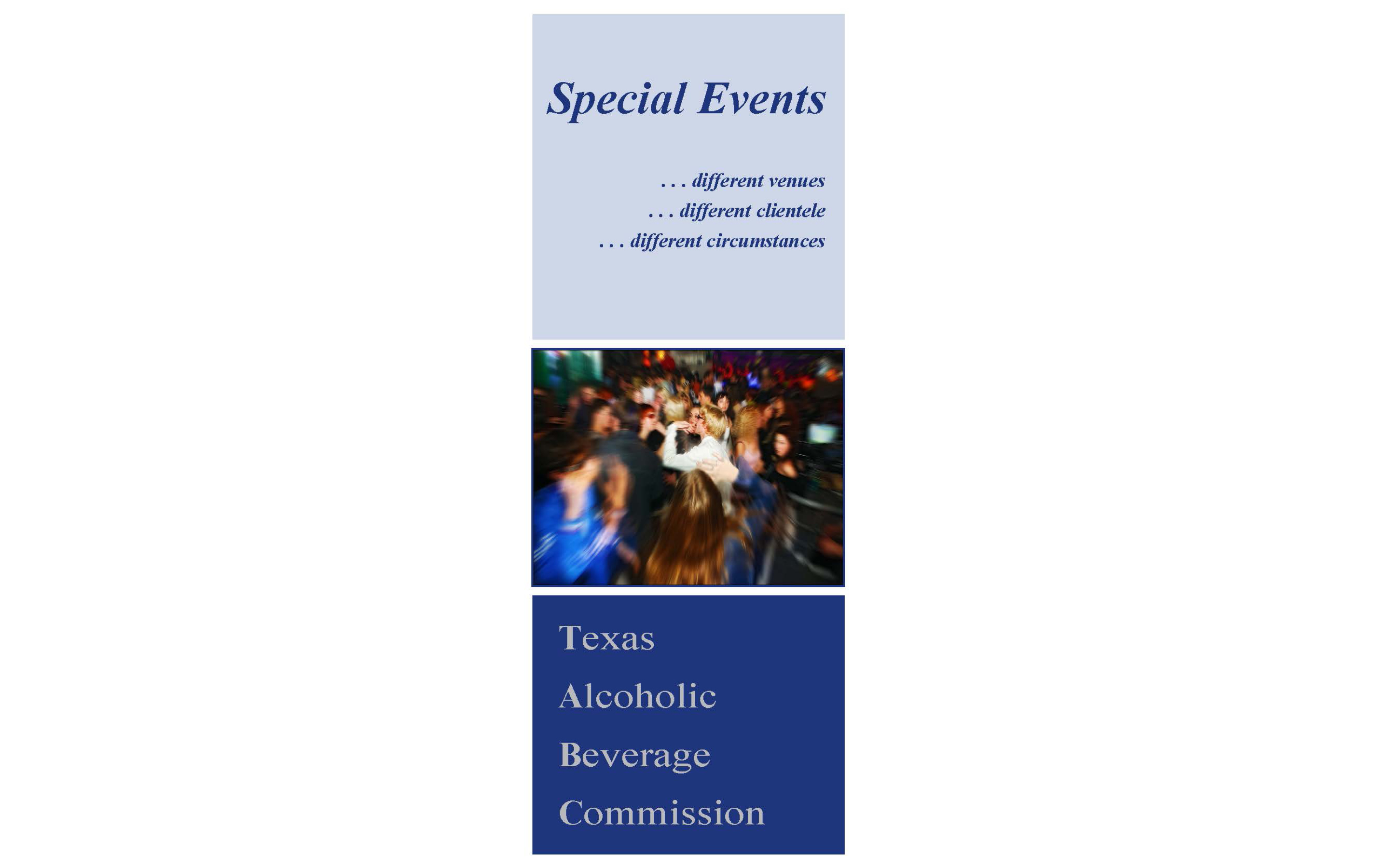 Special Events Brochure