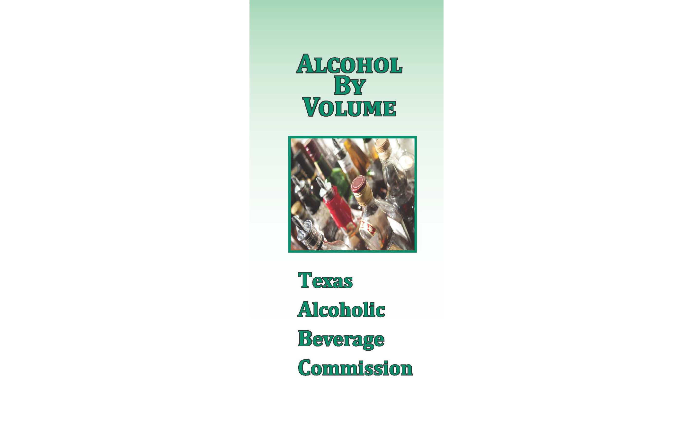 Alcohol By Volume Brochure