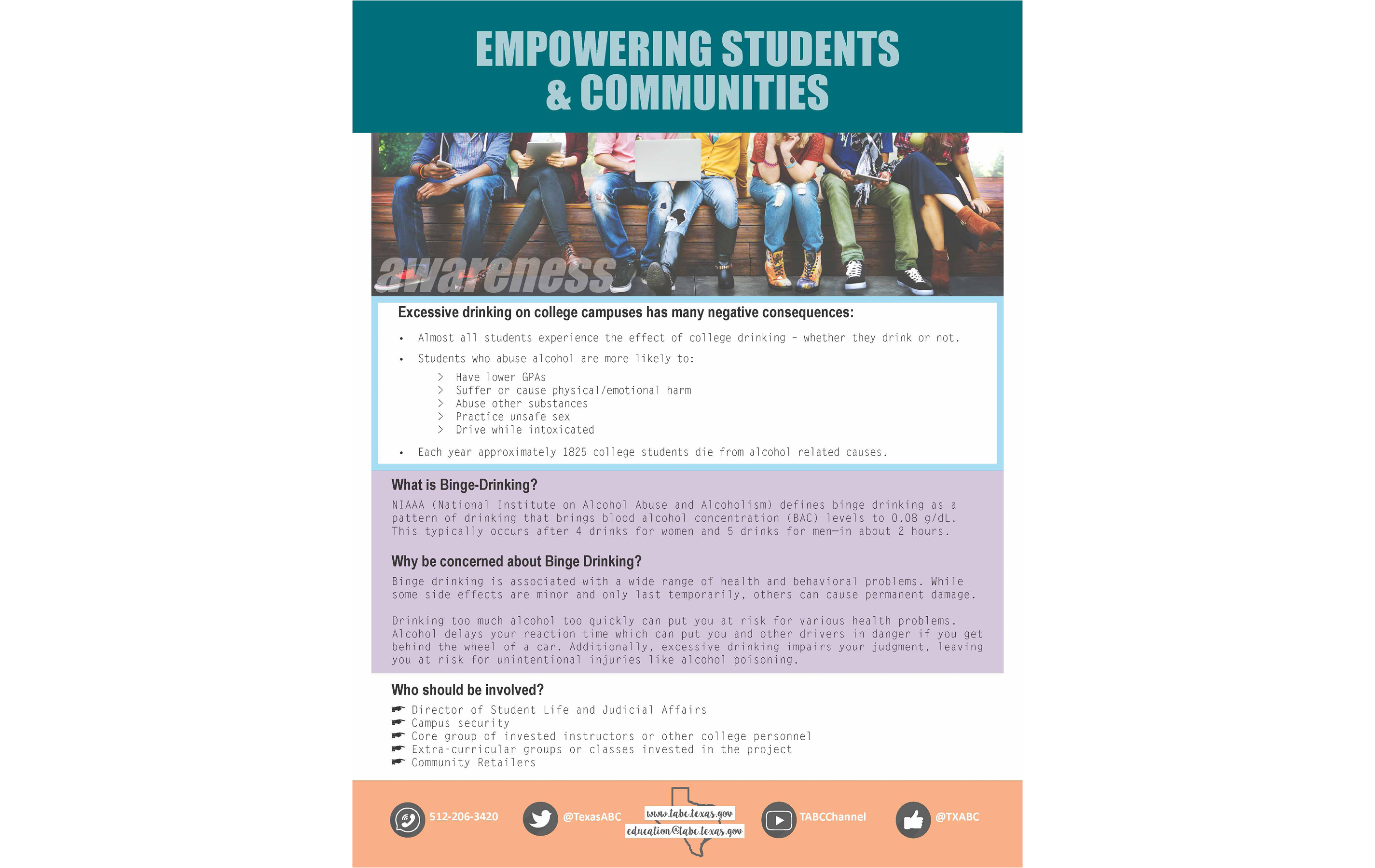 Empowering Students & Communities Flyer