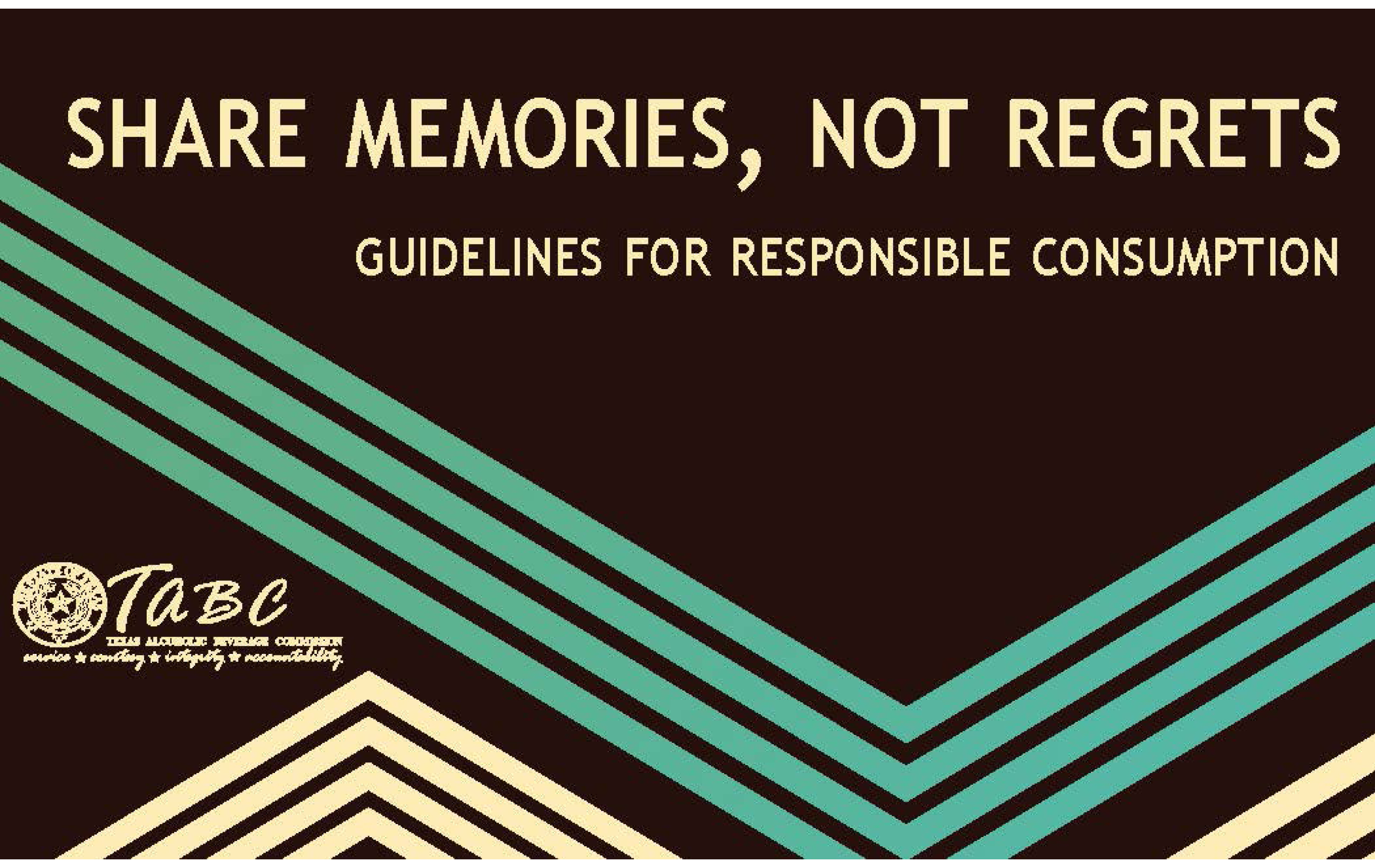 Share Memories, Not Regrets Booklet
