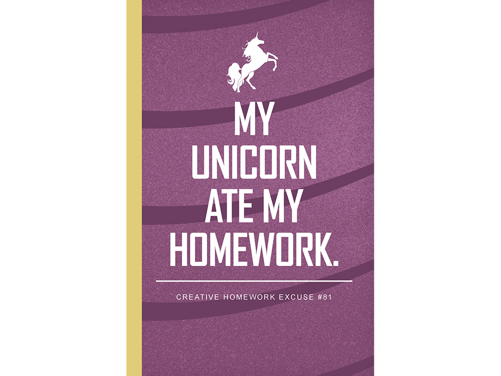 My Unicorn Ate My Homework Notebook