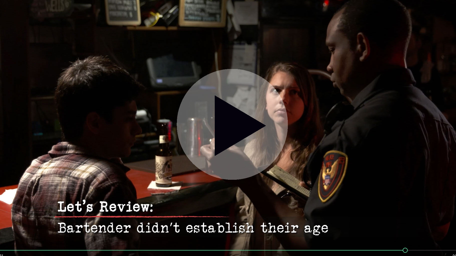 Underage Drinking Investigations Training Video