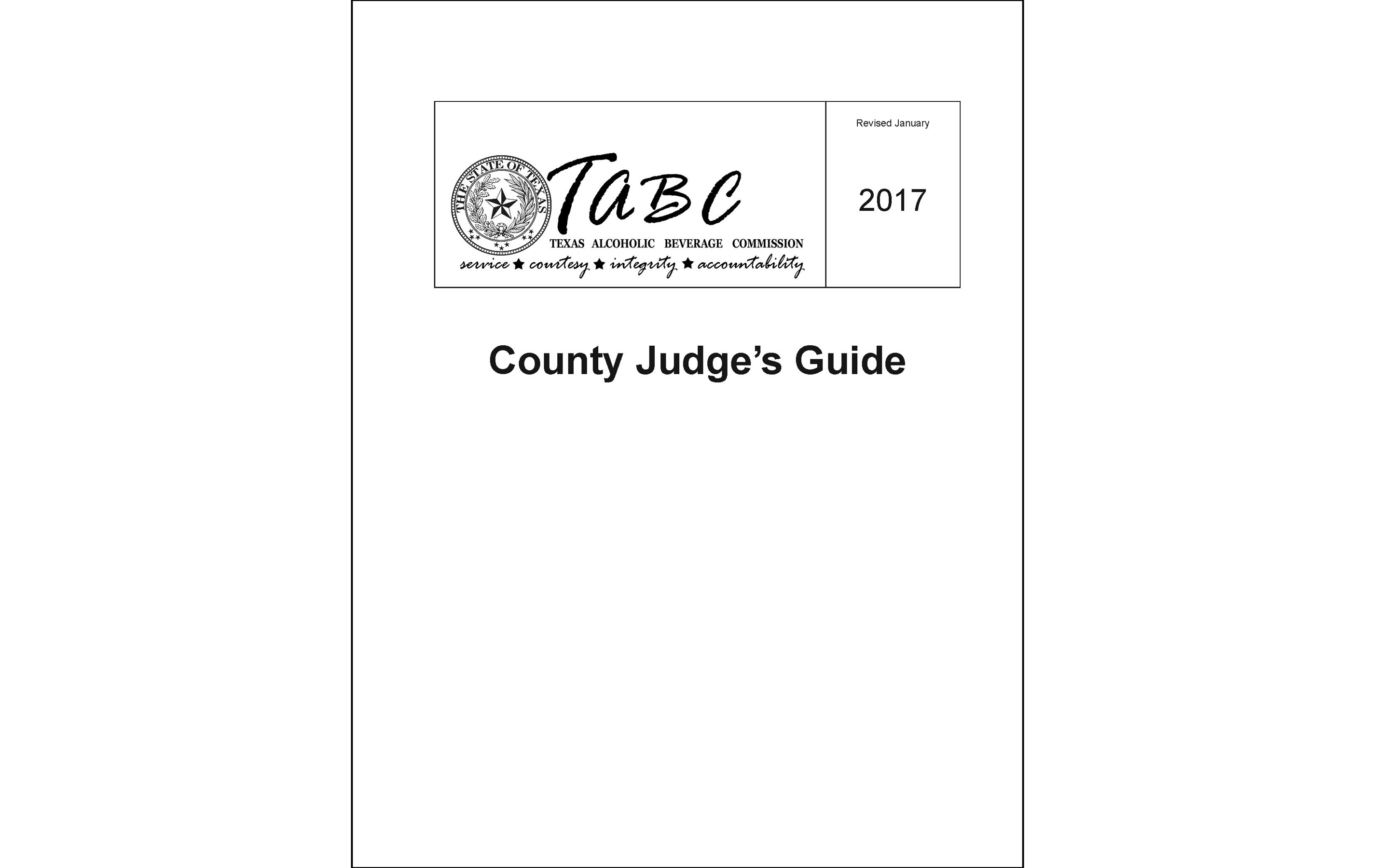 County Judge's Guide
