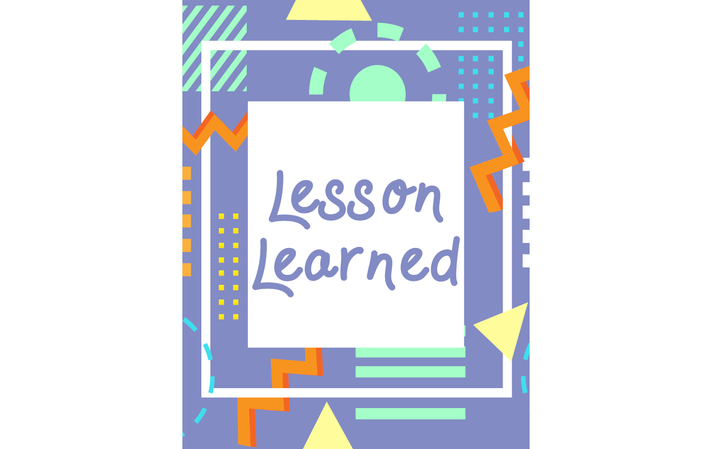 Lesson Learned Coloring Book