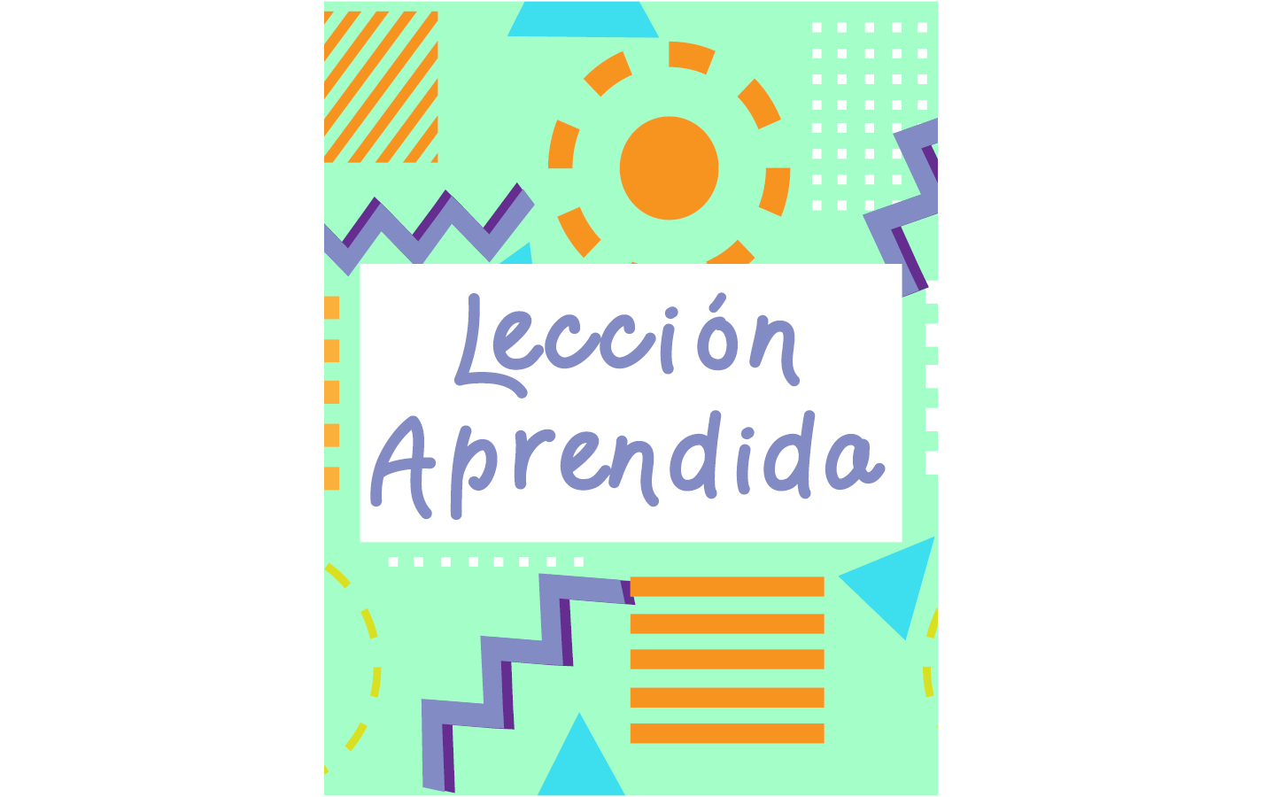 Lesson Learned Coloring Book (Spanish)