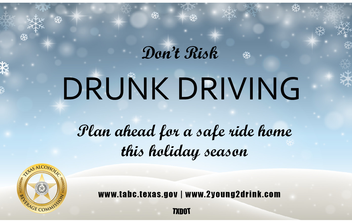 Holiday Drinking and Driving Booklet