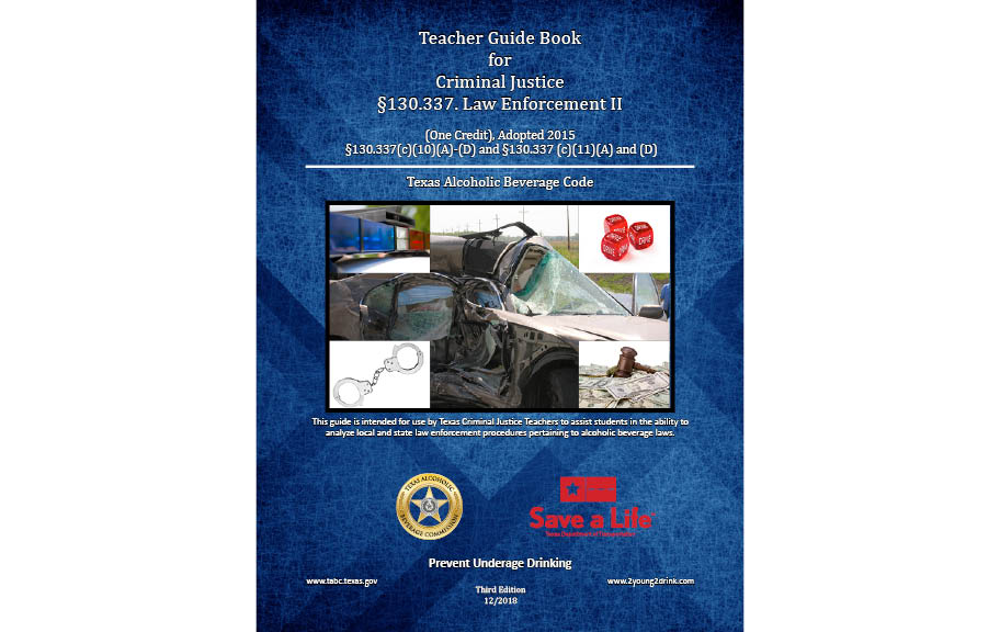 Criminal Justice Law Enforcement II Teacher's Guidebook