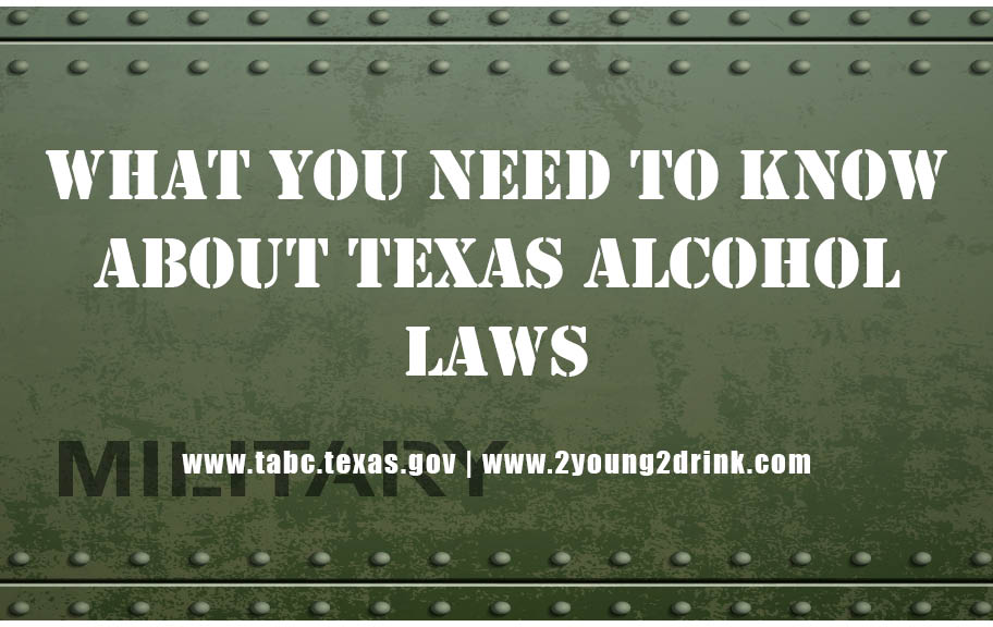 Military Themed - Texas Alcohol Laws Booklet